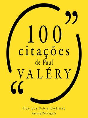 cover image of 100 citações de Paul Valery