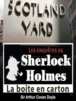 cover image of La boite en carton