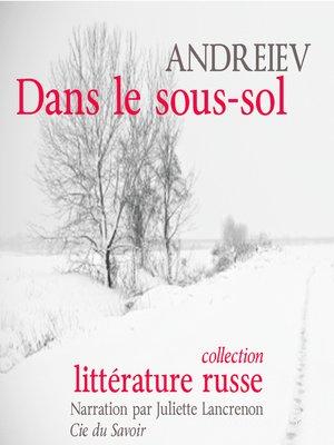 cover image of Dans le sous-sol