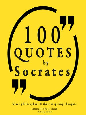 cover image of 100 Quotes by Socrates