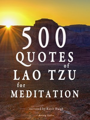 cover image of 500 Quotes of Lao Tsu for Meditation