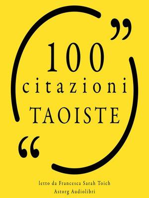 cover image of 100 Tao citazioni