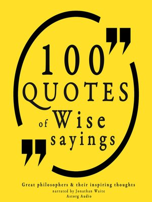 cover image of 100 Wise Sayings