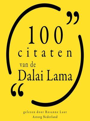 cover image of 100 citaten van Dalaï Lama