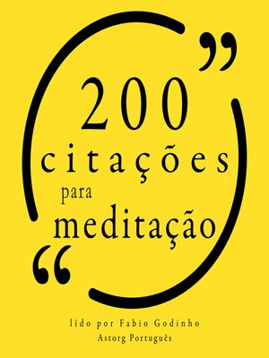 cover image of 200 citações para meditação