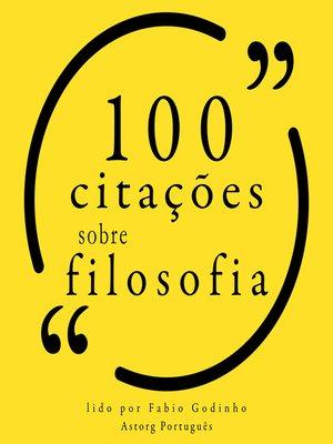 cover image of 100 citações sobre filosofia
