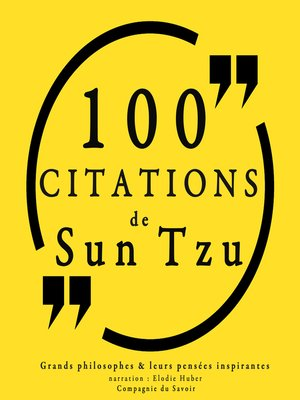 cover image of 100 citations de Sun Tzu