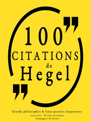 cover image of 100 citations de Hegel