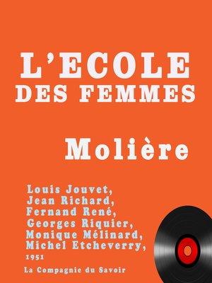 cover image of L'école des femmes