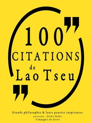 cover image of 100 citations de Lao Tseu