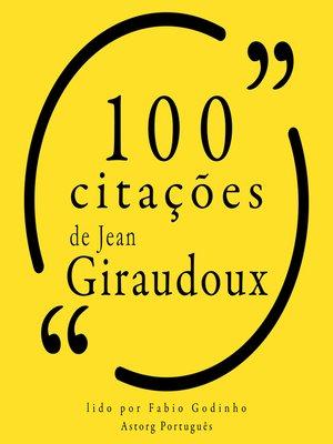 cover image of 100 citações de Jean Giraudoux