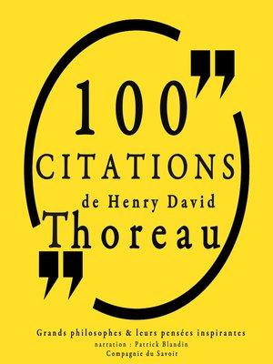 cover image of 100 citations de Henry David Thoreau