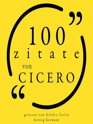 cover image of 100 Zitate von Cicero