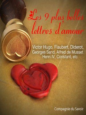 cover image of Les plus belles lettres d'amour