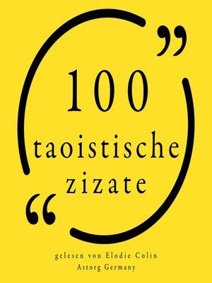 cover image of 100 taoistische Zitate