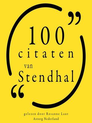 cover image of 100 citaten van Stendhal