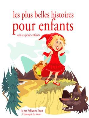 cover image of Les plus belles histoires pour enfants