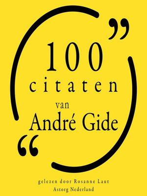 cover image of 100 citaten van André Gide