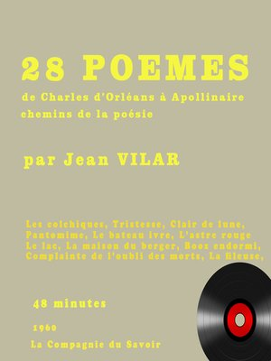 cover image of Poésies lues par Jean Vilar