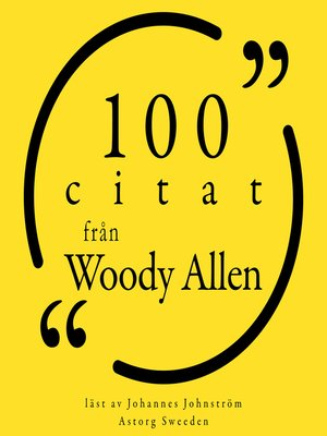cover image of 100 citat från Woody Allen