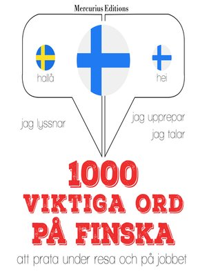 cover image of 1000 viktiga ord på finska