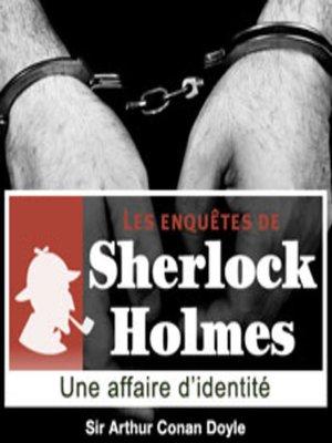 cover image of Une affaire d'identité