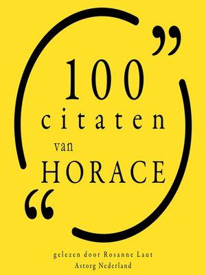 cover image of 100 citaten van Horace