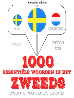 cover image of 1000 essentiële woorden in het Zweeds