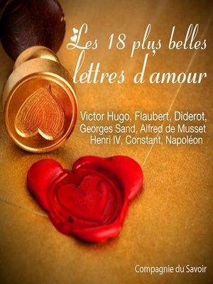 cover image of Les 18 plus belles lettres d'amour