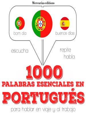 cover image of 1000 palabras esenciales en portugués