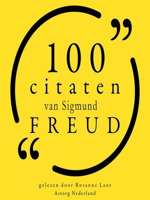 cover image of 100 citaten van Sigmund Freud