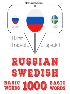 cover image of Russian-Swedish: 1000 basic words