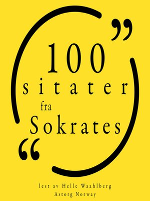 cover image of 100 sitater fra Sokrates