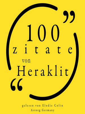 cover image of 100 Zitate von Heraklit