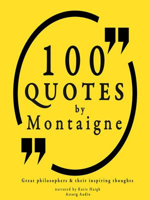 cover image of 100 Quotes by Michel de Montaigne