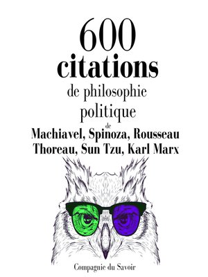 cover image of 600 citations de philosophie politique