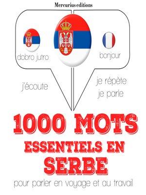 cover image of 1000 mots essentiels en croato serbe