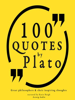 cover image of 100 Quotes by Plato
