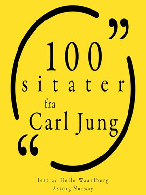 cover image of 100 sitater fra Carl Jung