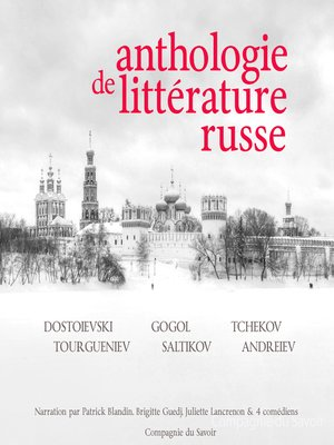 cover image of Anthologie de littérature russe