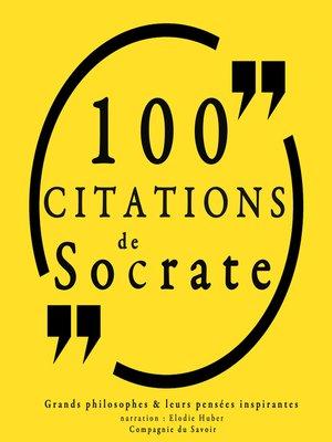 cover image of 100 citations de Socrate
