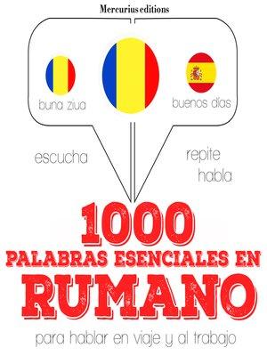 cover image of 1000 palabras esenciales en rumano