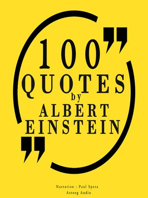 cover image of 100 Quotes by Albert Einstein