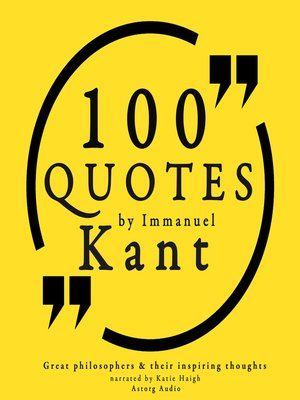cover image of 100 Quotes by Immanuel Kant