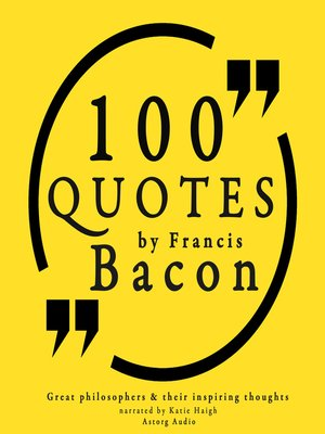 cover image of 100 Quotes by Francis Bacon