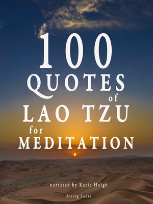 cover image of 100 Quotes for Meditation with Lao Tzu