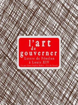cover image of L'art de gouverner