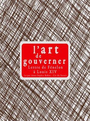 cover image of L'art de gouverner