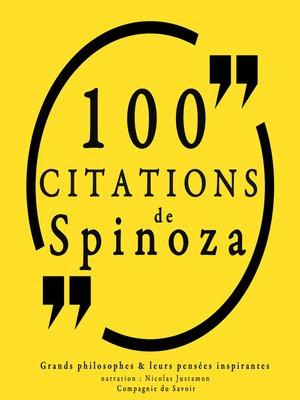 cover image of 100 citations de Spinoza