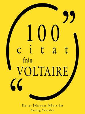 cover image of 100 citat från Voltaire